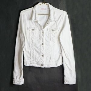 J Brand White Denim Jacket M